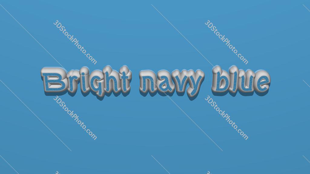 Bright navy blue