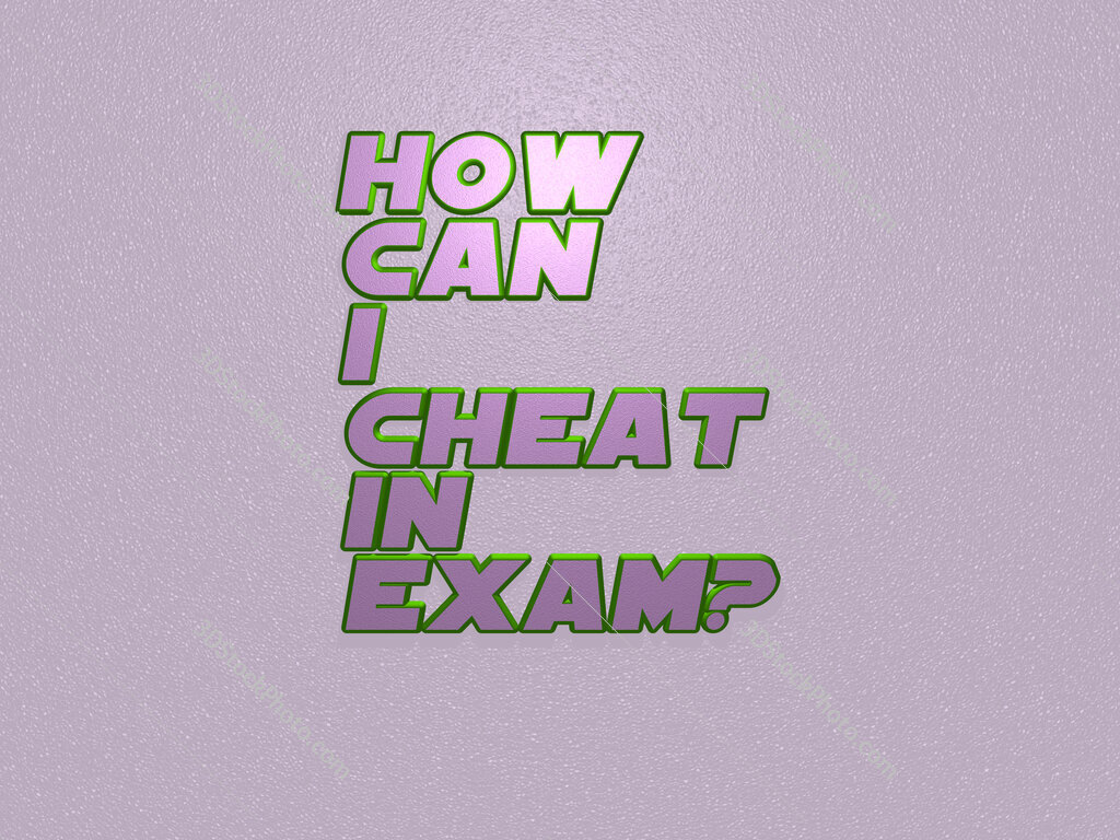 How can I cheat in exam?
