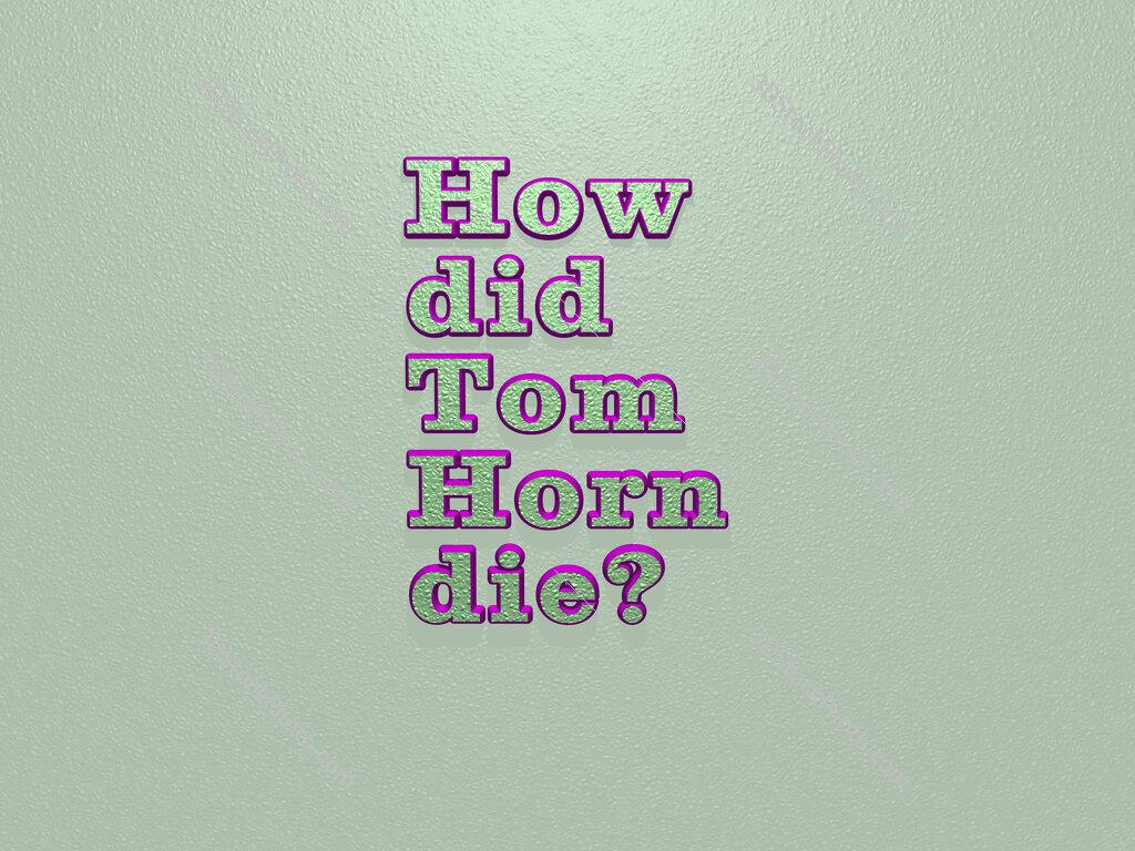 How did Tom Horn die?
