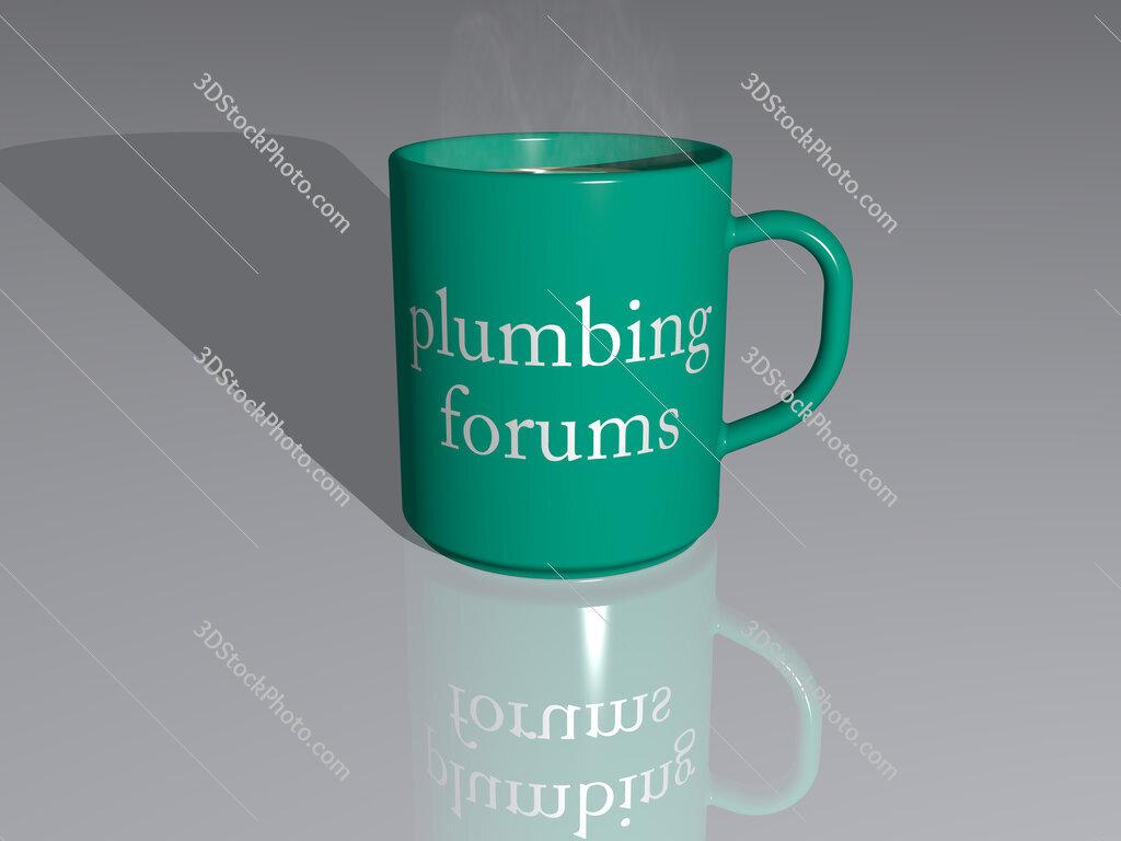 plumbing forums text on a coffee mug