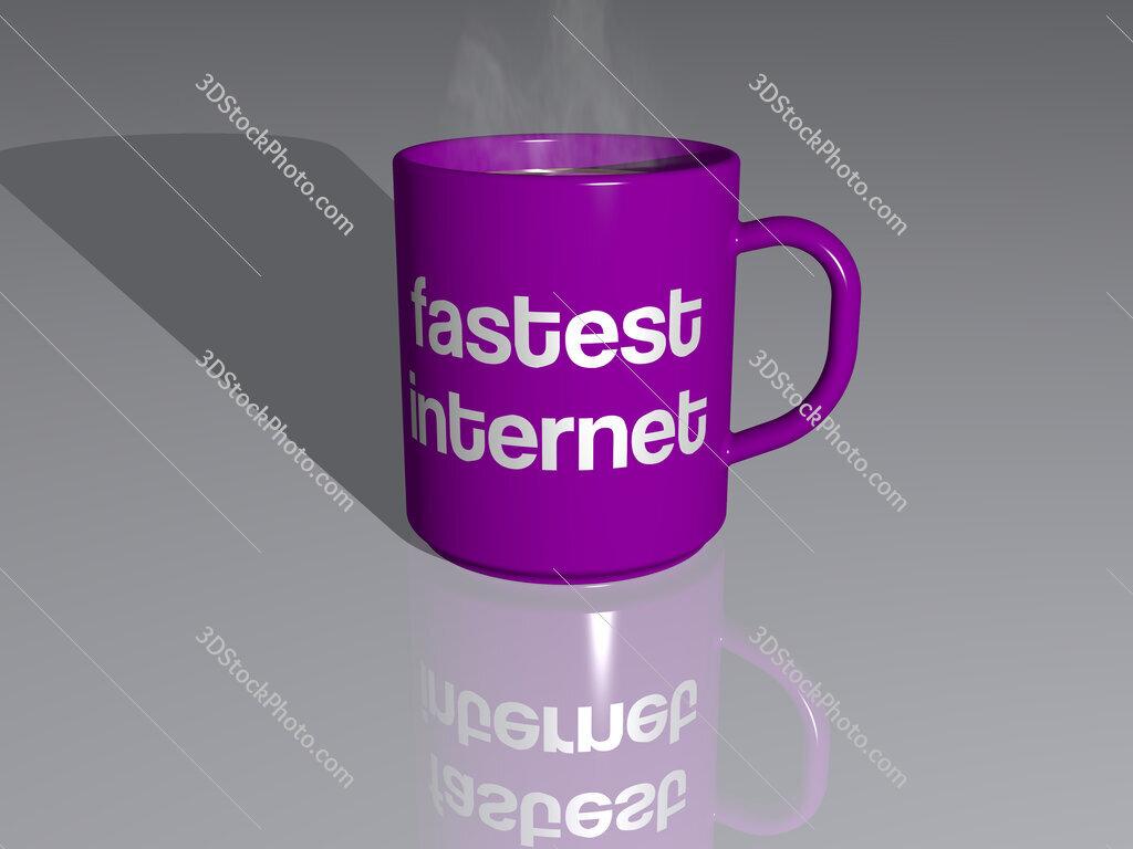 fastest internet text on a coffee mug