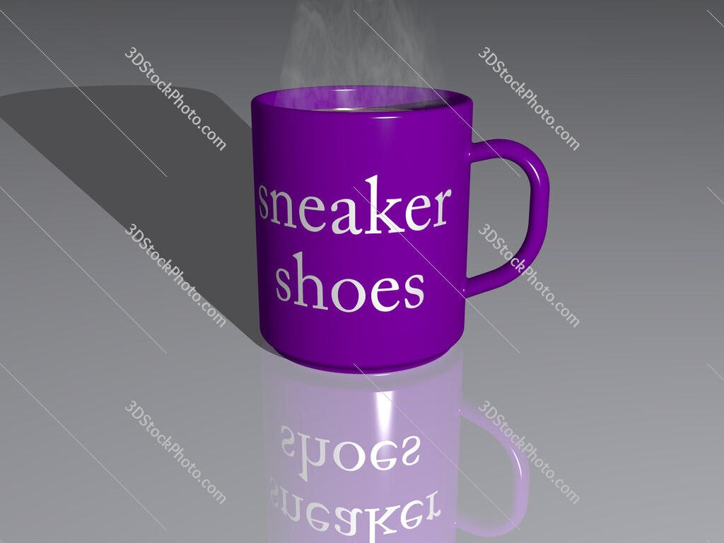 sneaker shoes text on a coffee mug