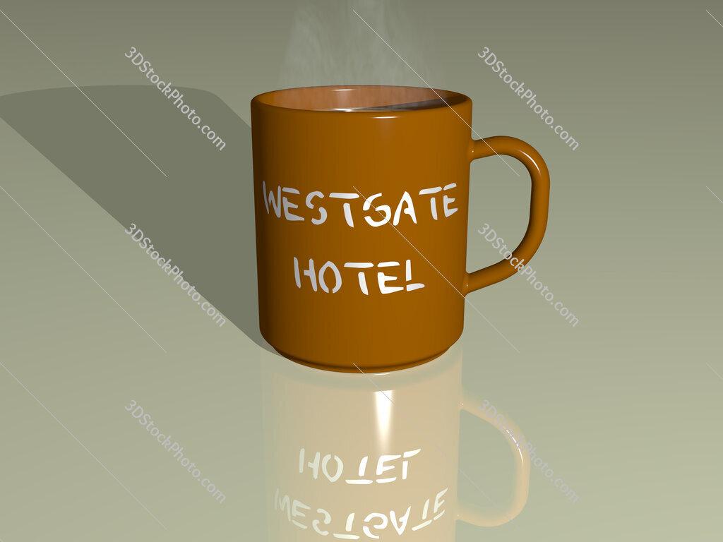 westgate hotel text on a coffee mug