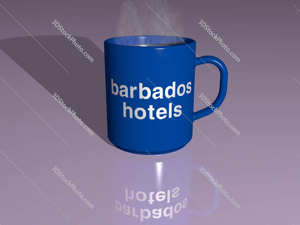 barbados hotels text on a coffee mug