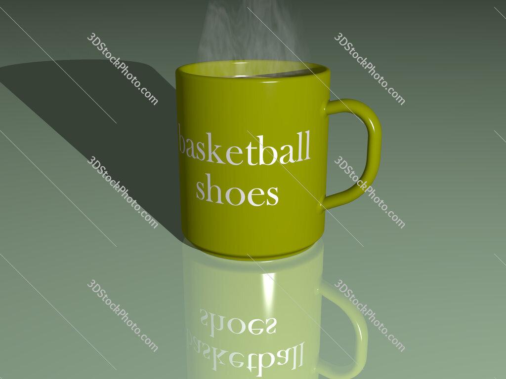 basketball shoes text on a coffee mug