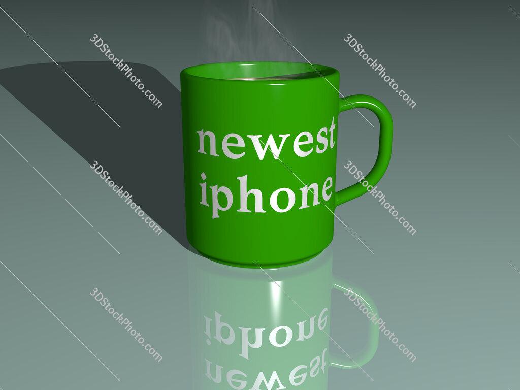 newest iphone text on a coffee mug