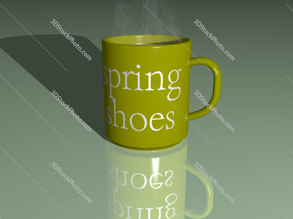 spring shoes text on a coffee mug