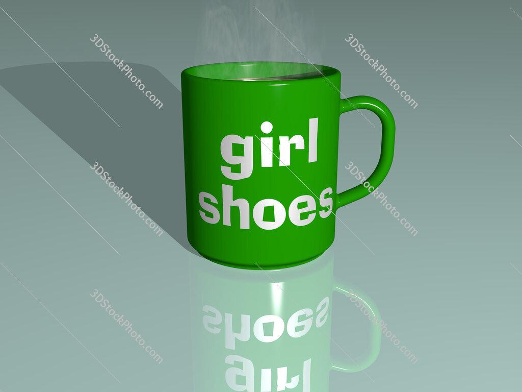 girl shoes text on a coffee mug