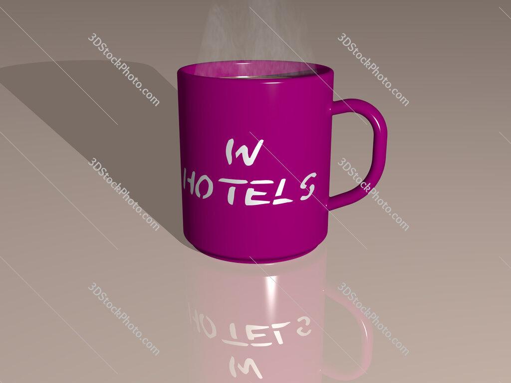 w hotels text on a coffee mug