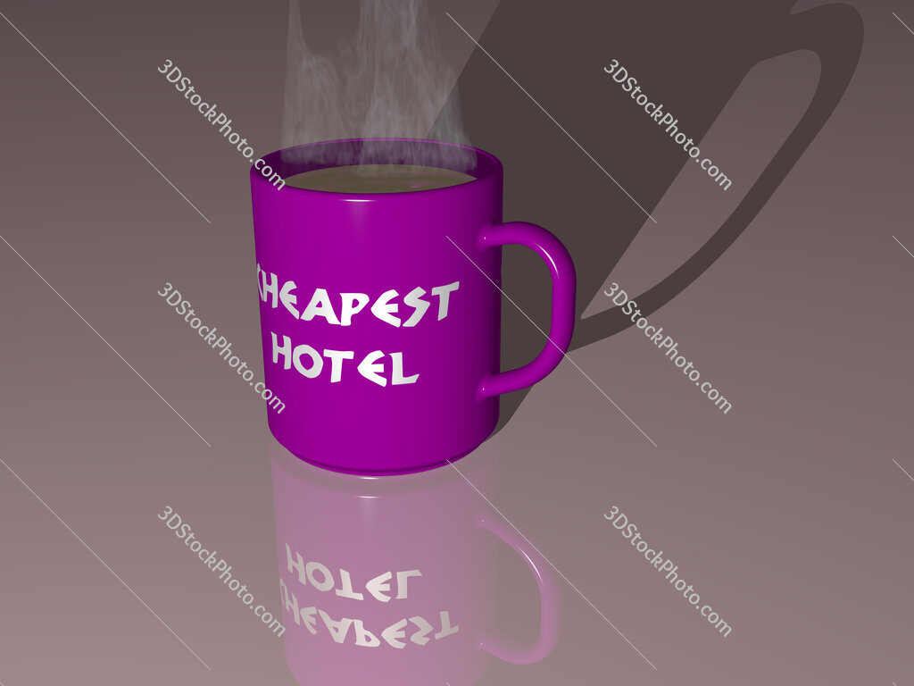 cheapest hotel text on a coffee mug
