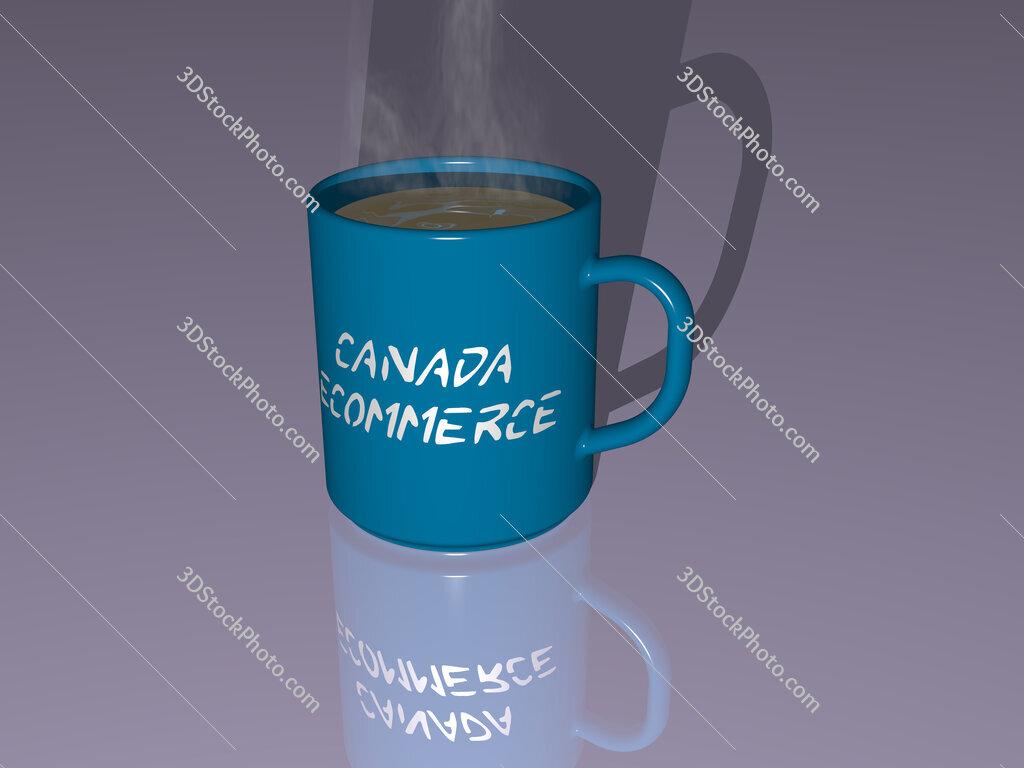 canada ecommerce text on a coffee mug