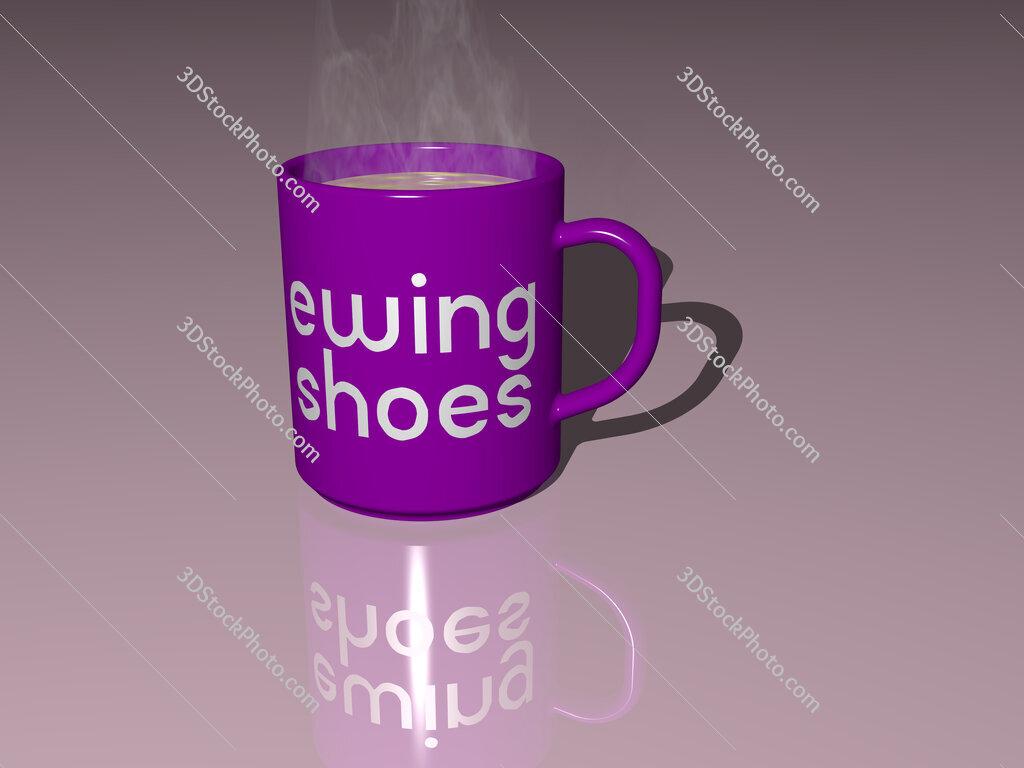 ewing shoes text on a coffee mug