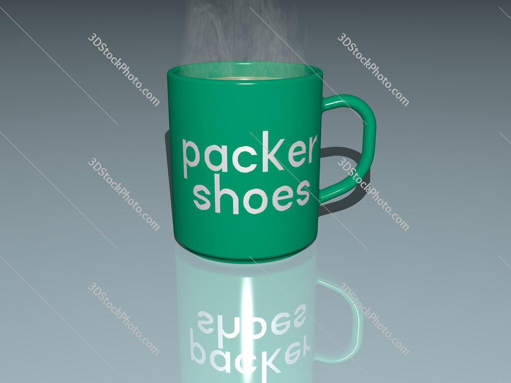 packer shoes text on a coffee mug