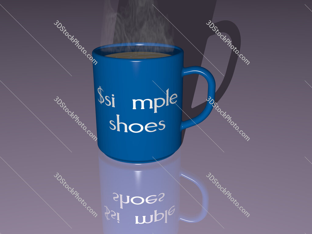$simple shoes text on a coffee mug