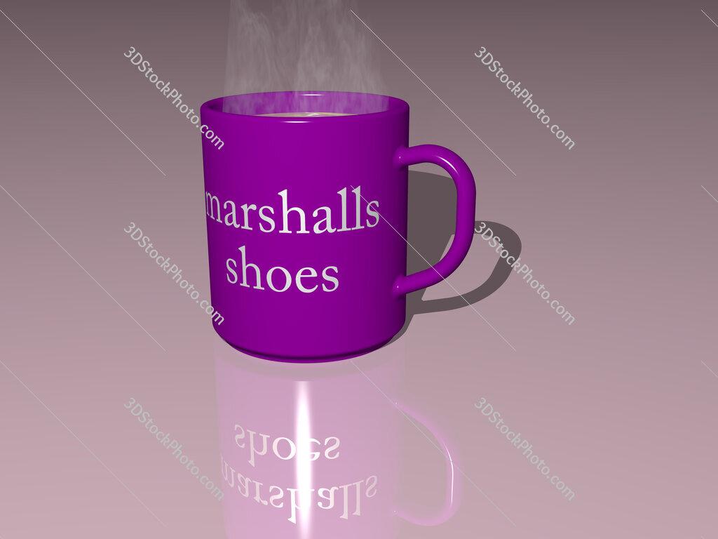 marshalls shoes text on a coffee mug