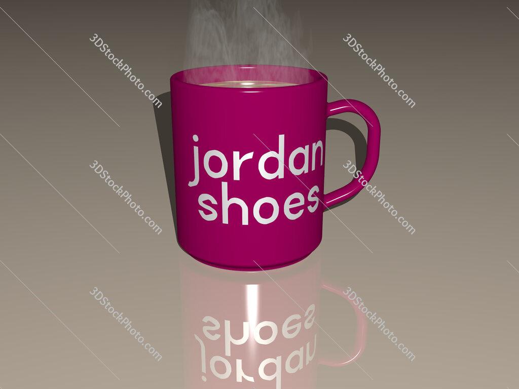 jordan shoes text on a coffee mug