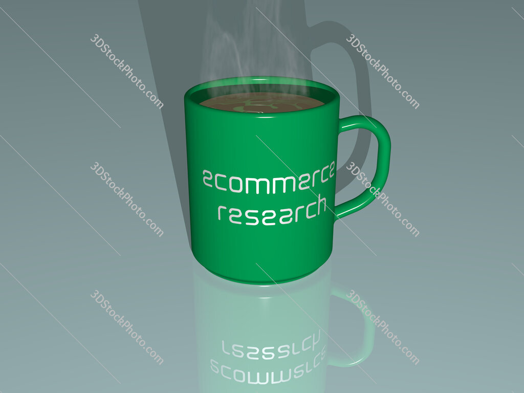 ecommerce research text on a coffee mug
