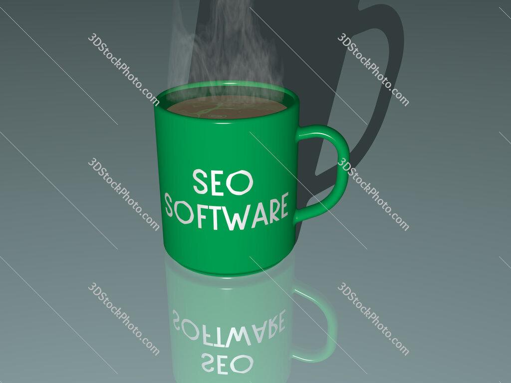 seo software text on a coffee mug