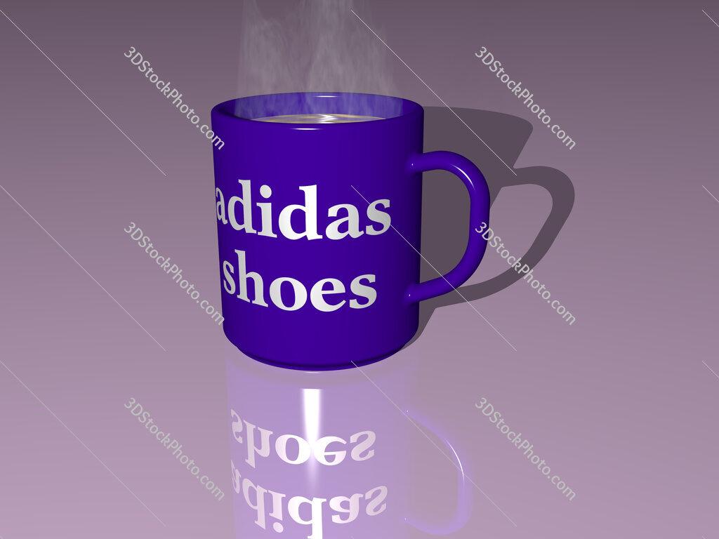 adidas shoes text on a coffee mug