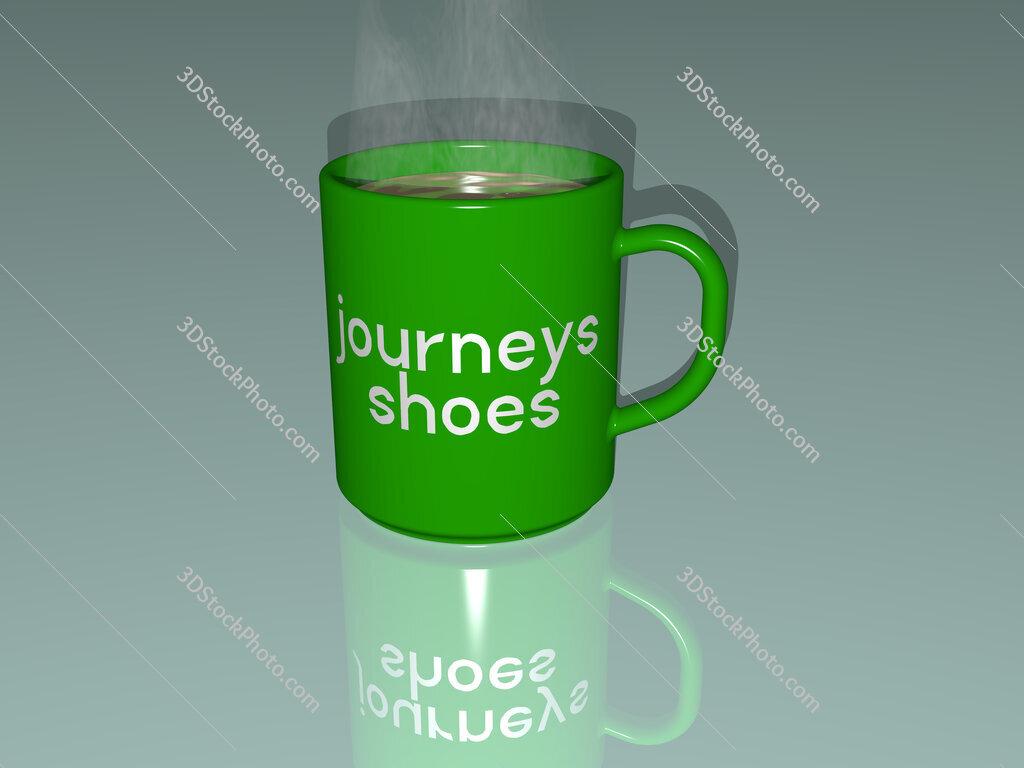 journeys shoes text on a coffee mug