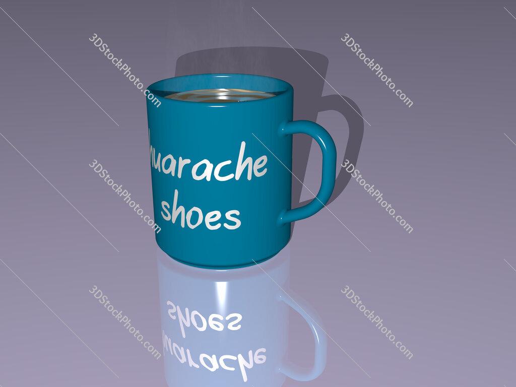 huarache shoes text on a coffee mug