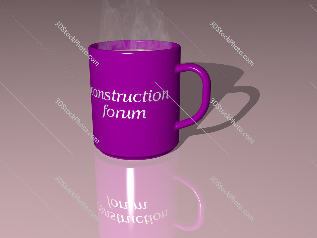 construction forum text on a coffee mug