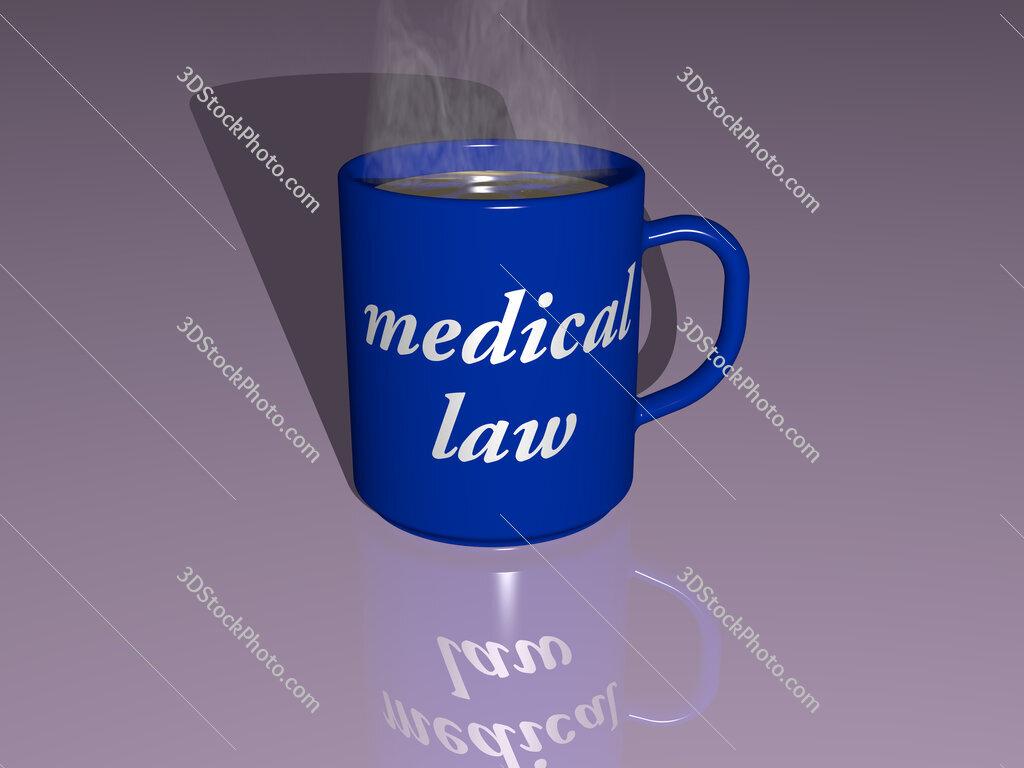 medical law text on a coffee mug