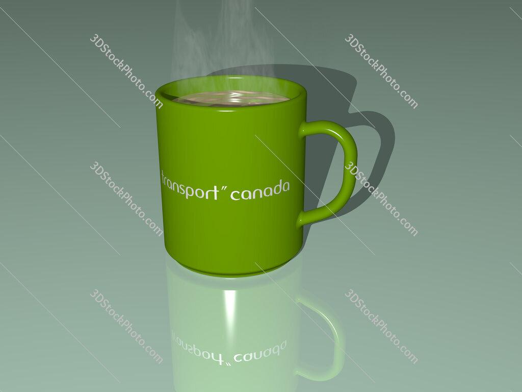 transport canada text on a coffee mug