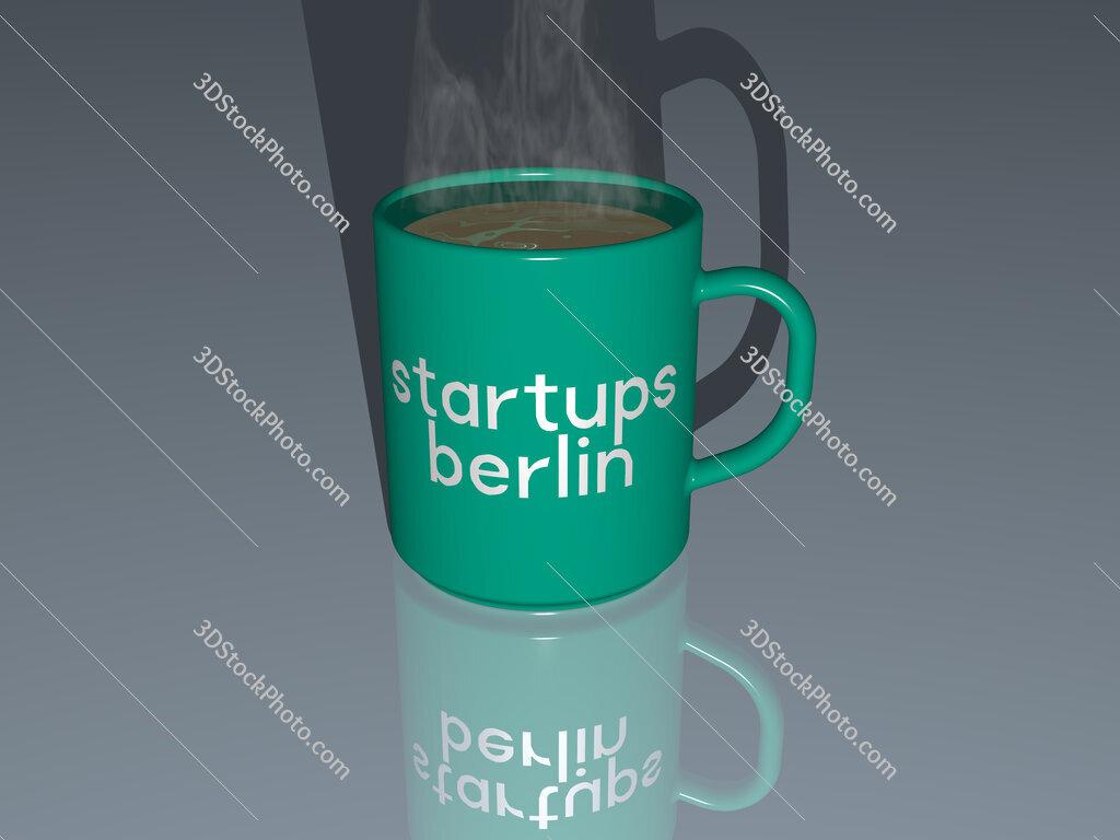 startups berlin text on a coffee mug