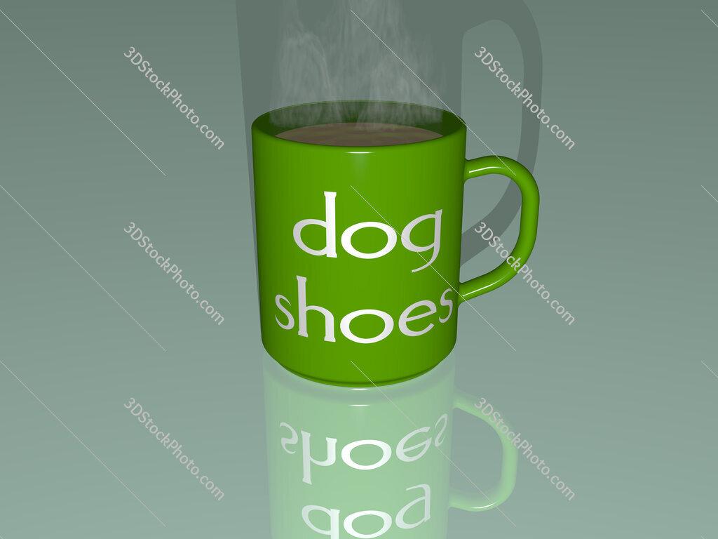 dog shoes text on a coffee mug