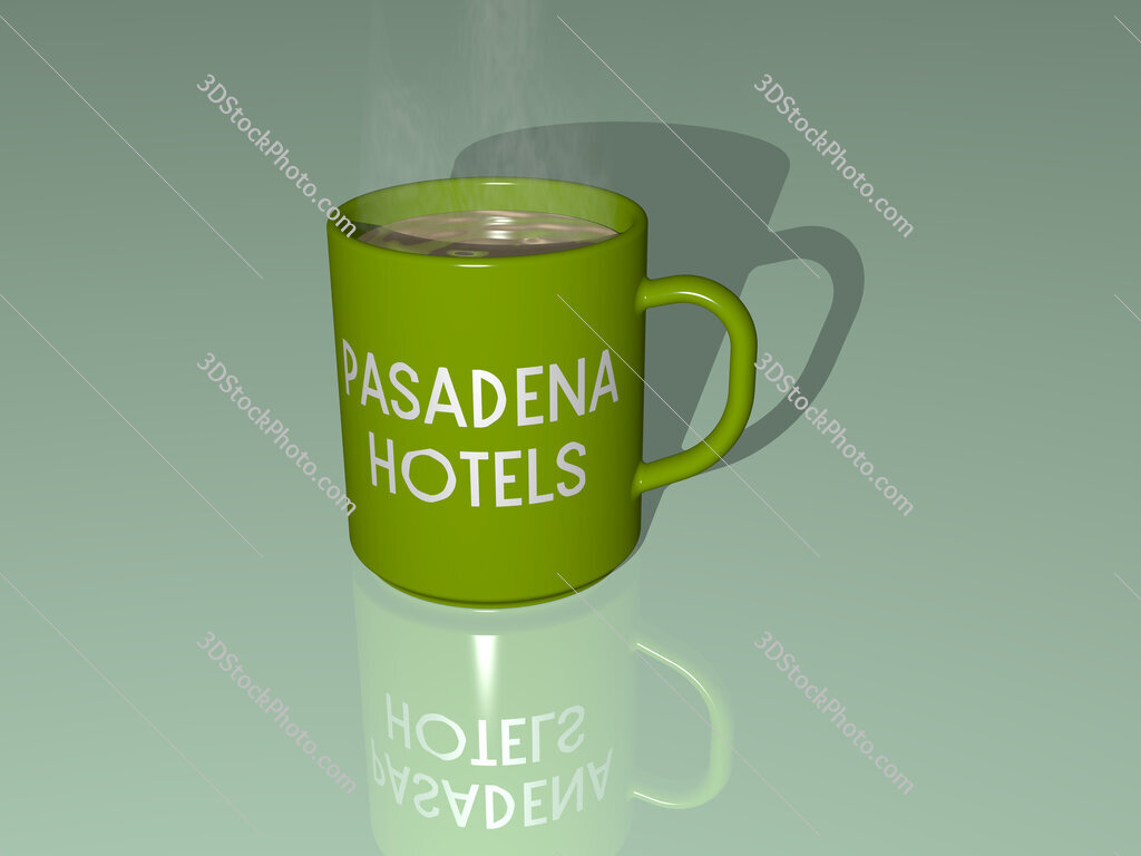 pasadena hotels text on a coffee mug