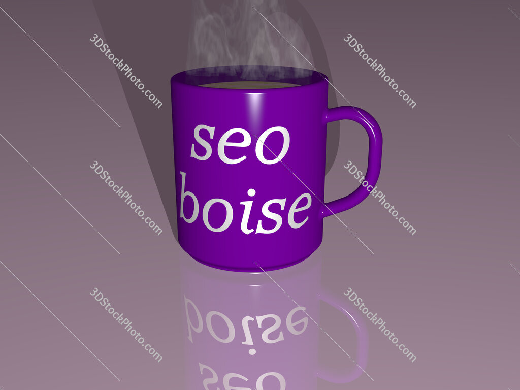 seo boise text on a coffee mug