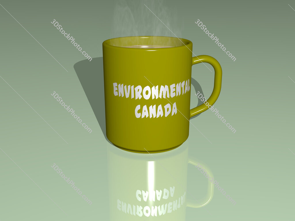 environmental canada text on a coffee mug