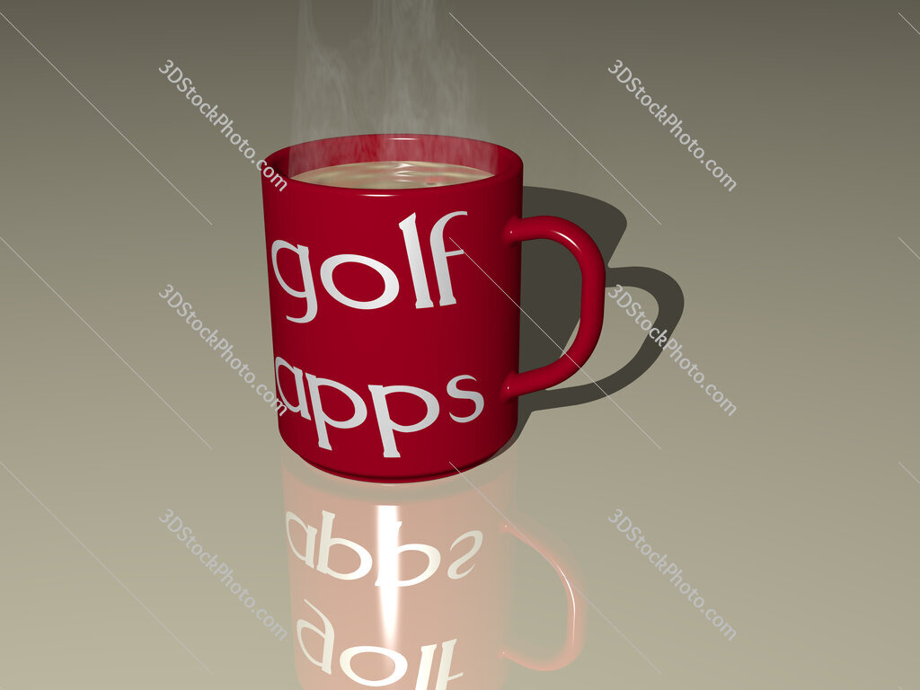 golf apps text on a coffee mug