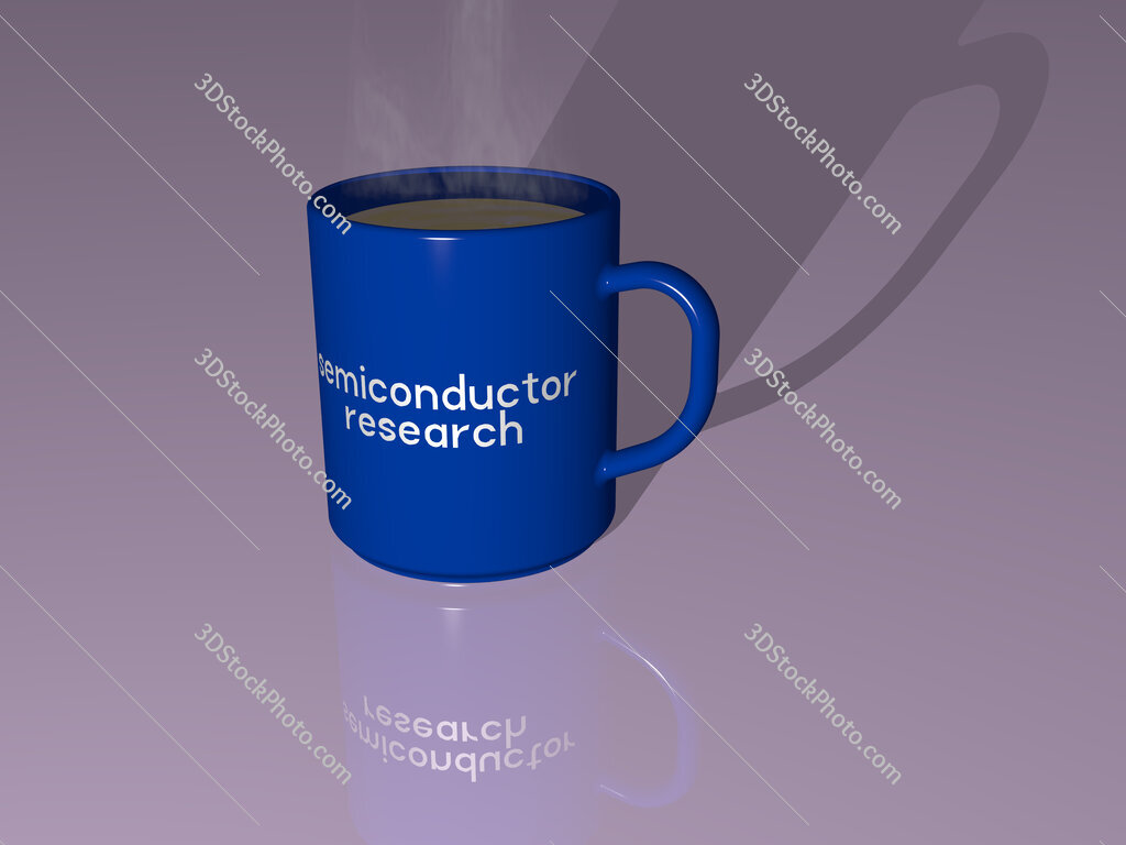 semiconductor research text on a coffee mug