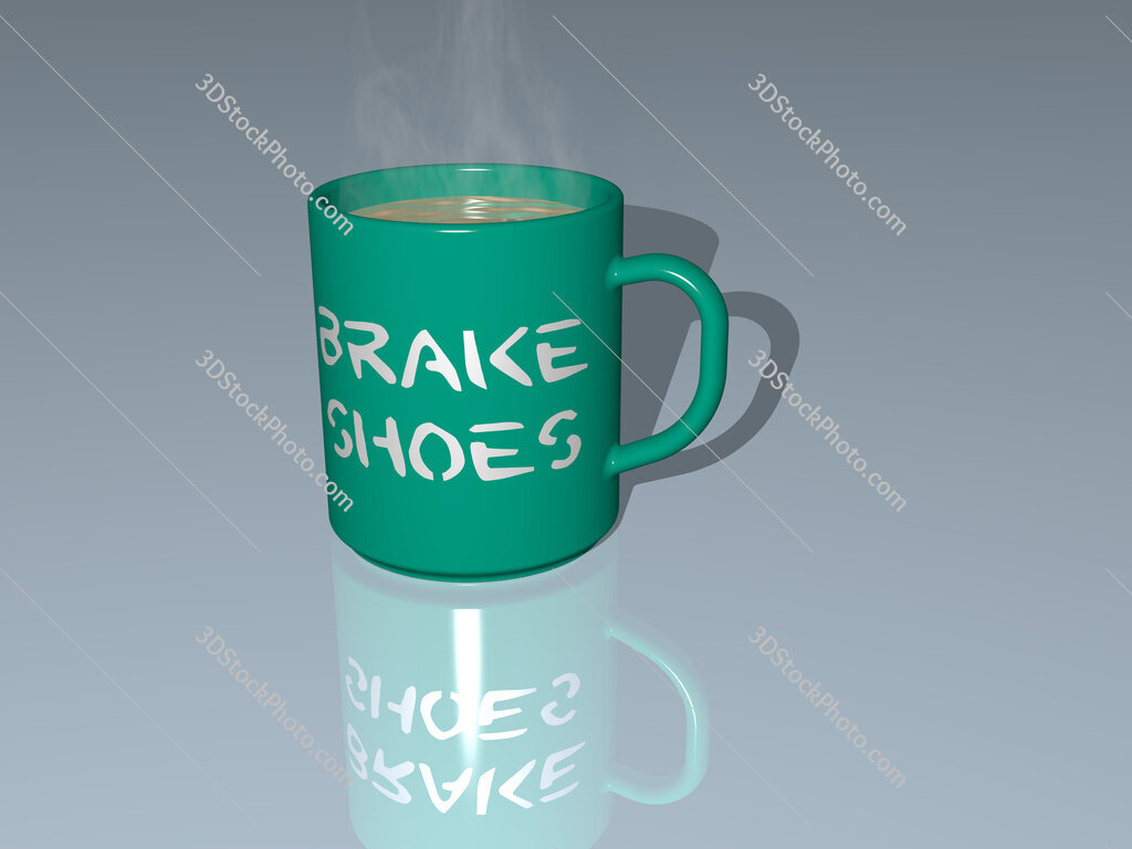 brake shoes text on a coffee mug