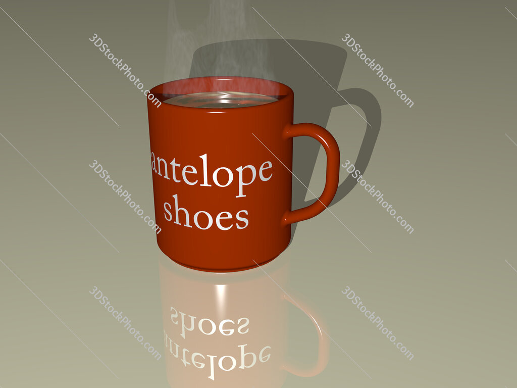 antelope shoes text on a coffee mug
