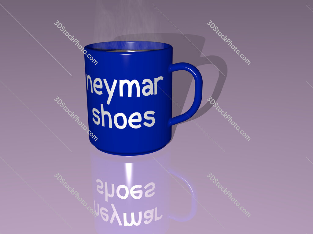 neymar shoes text on a coffee mug