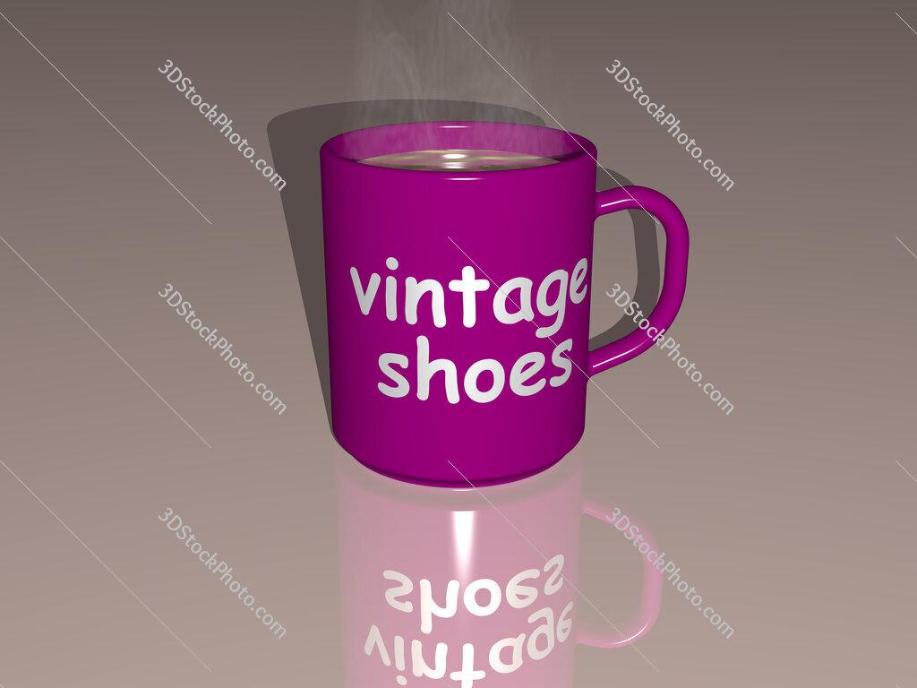 vintage shoes text on a coffee mug