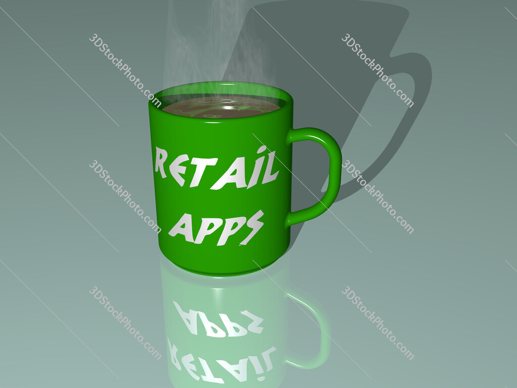 retail apps text on a coffee mug