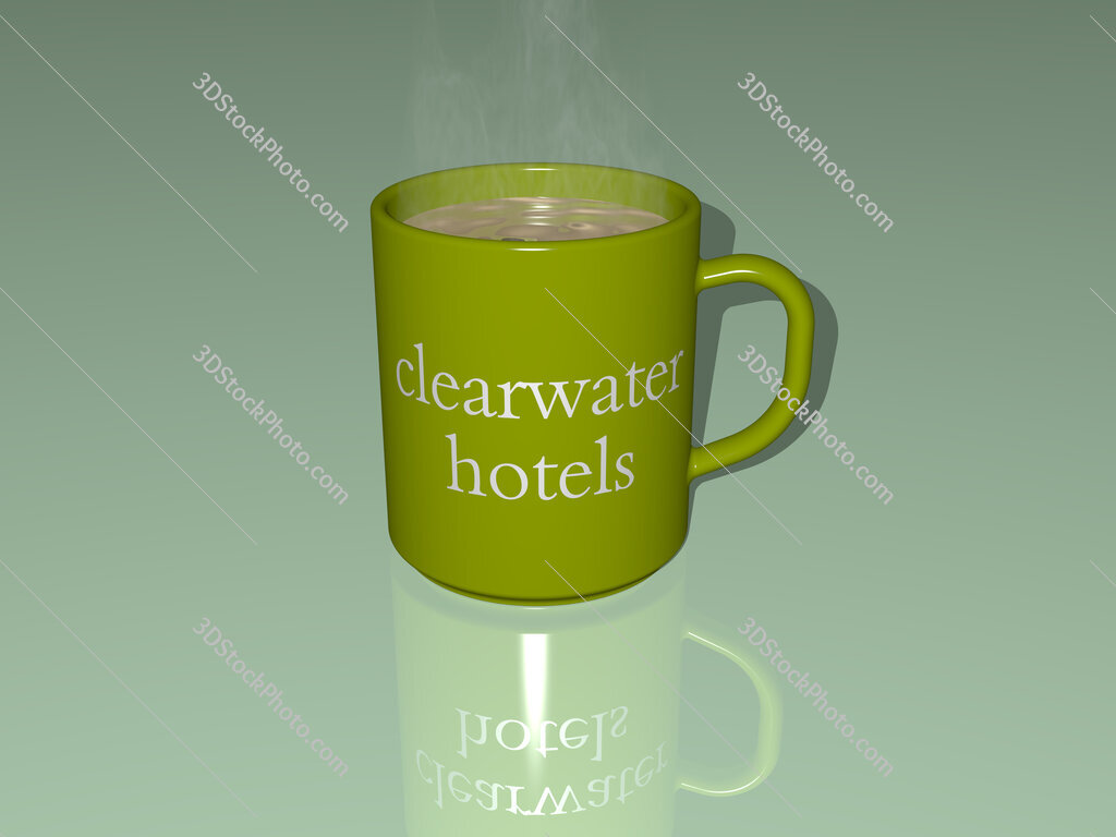 clearwater hotels text on a coffee mug