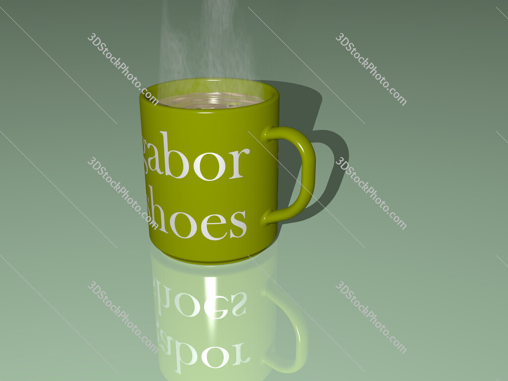 gabor shoes text on a coffee mug