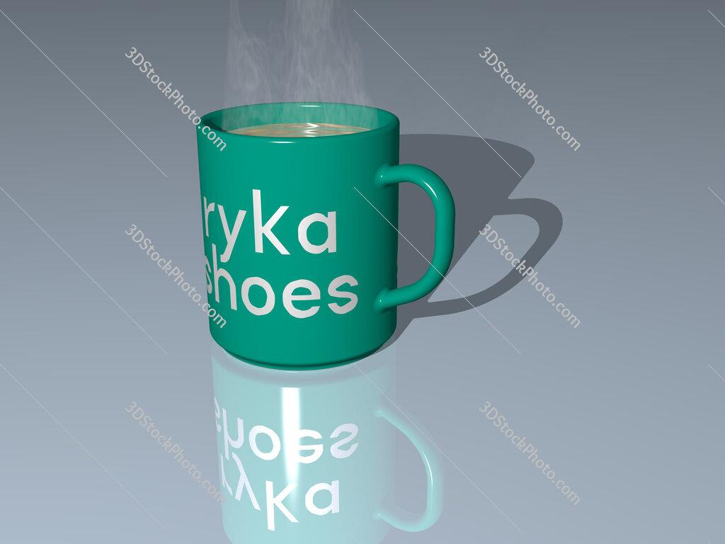 ryka shoes text on a coffee mug