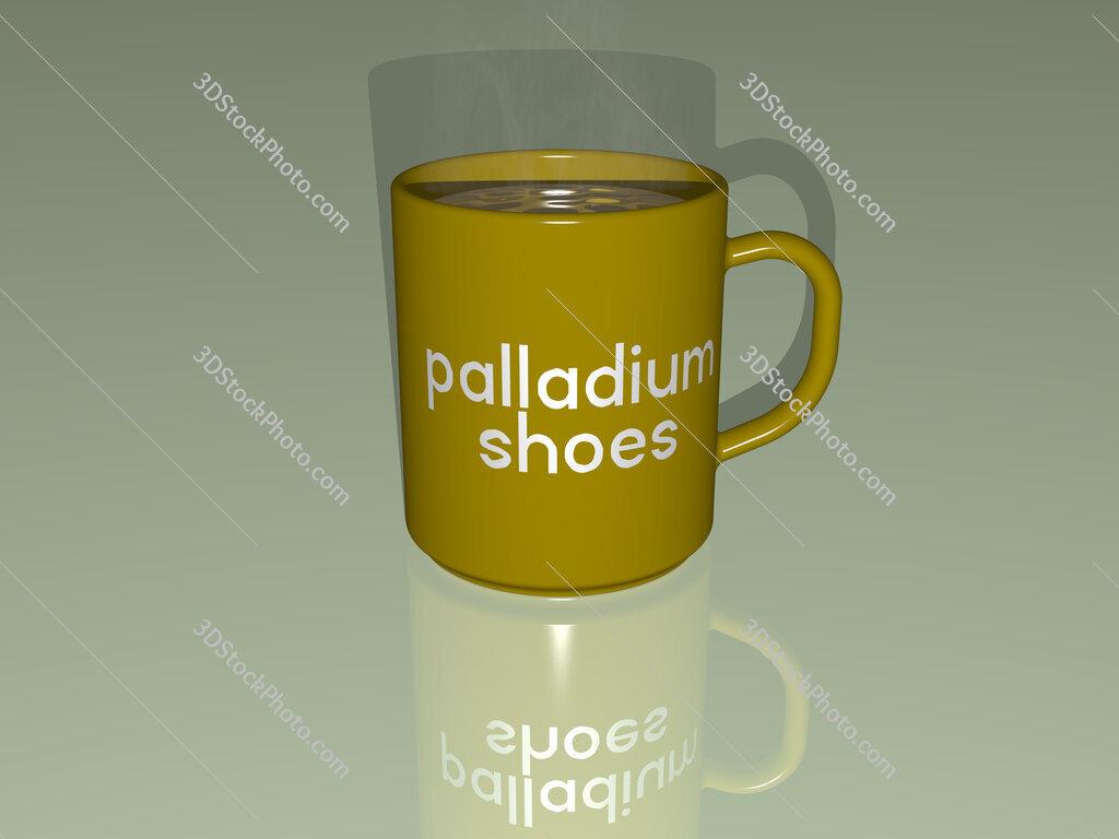 palladium shoes text on a coffee mug