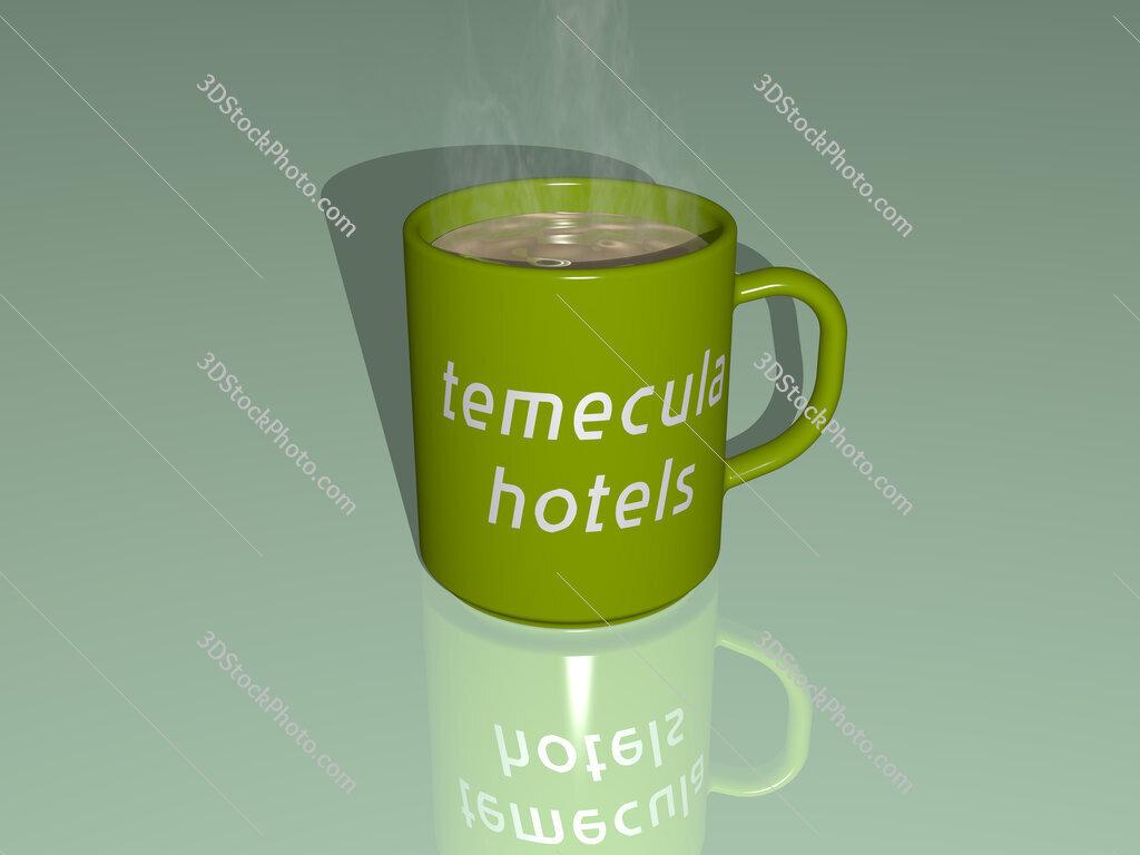 temecula hotels text on a coffee mug