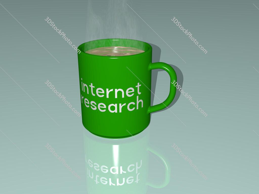 internet research text on a coffee mug