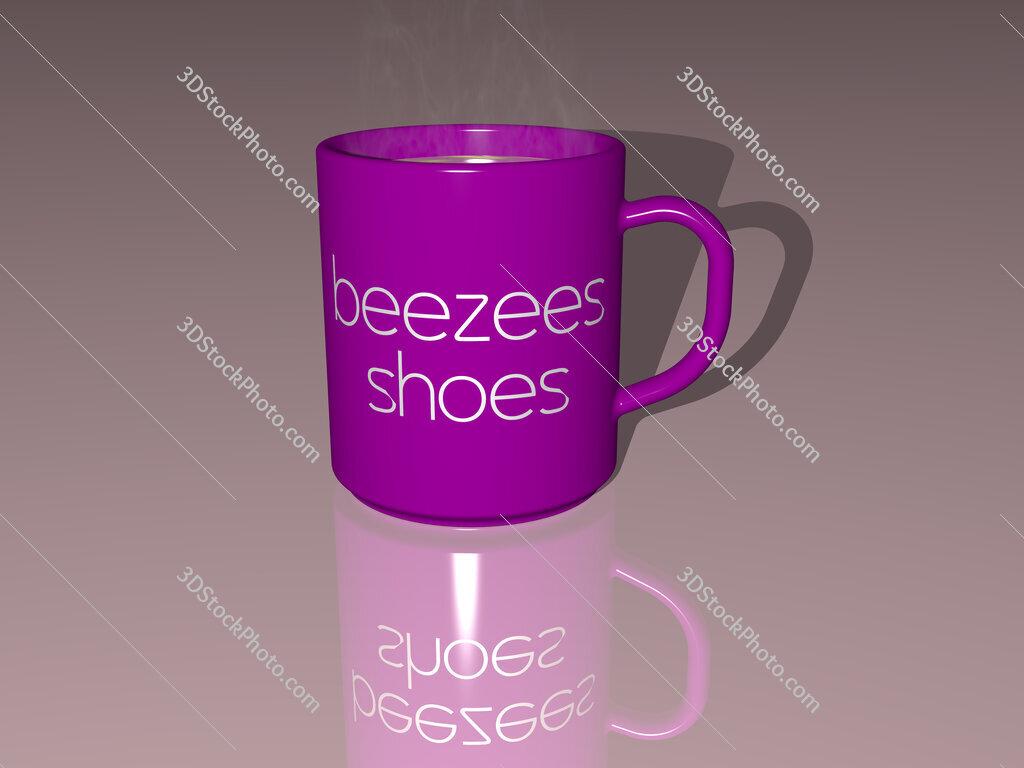 beezees shoes text on a coffee mug