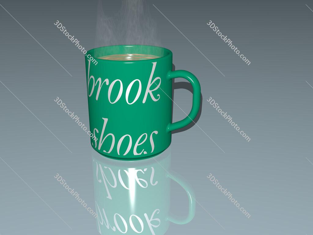 brook shoes text on a coffee mug