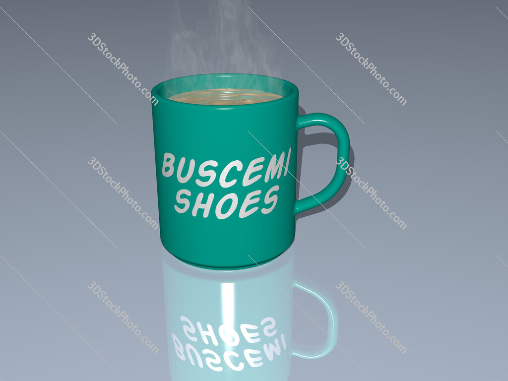 buscemi shoes text on a coffee mug