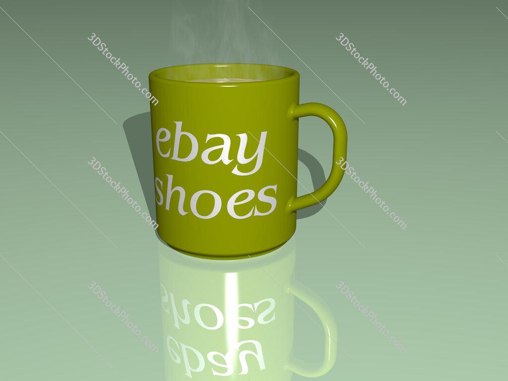ebay shoes text on a coffee mug
